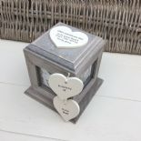 Shabby Chic In Memory Of A Son ANY NAME Rustic Wood Personalised Photo CUBE Box - 253967140892